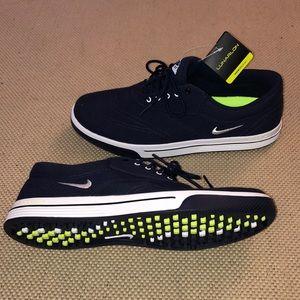 Nike Lunarlon Canvas Golf Shoes - Navy Blue